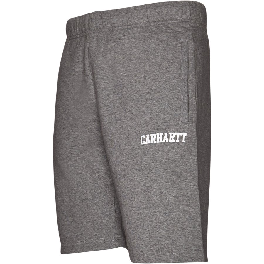 COLLEGE SWEAT SHORT I024673 - College Sweat Shorts - Shorts - Regular - GREY HTR/WHITE - 4